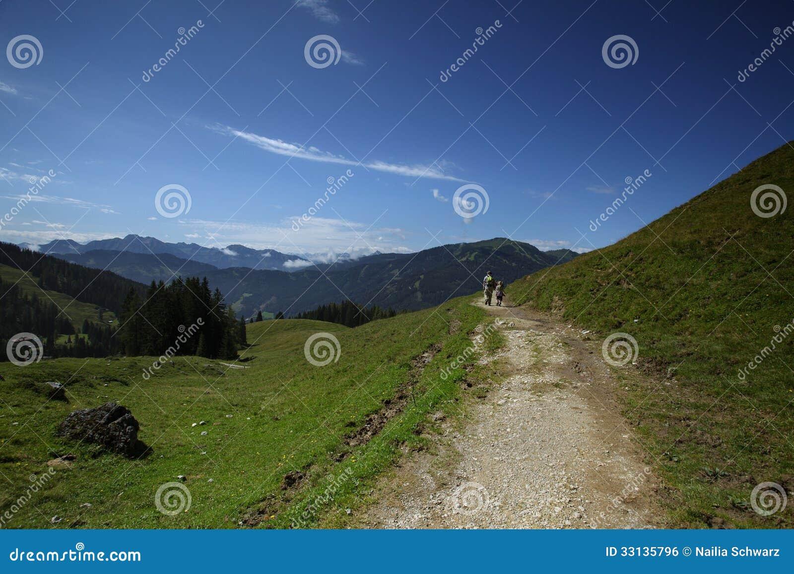 Wandeling in de Alpen