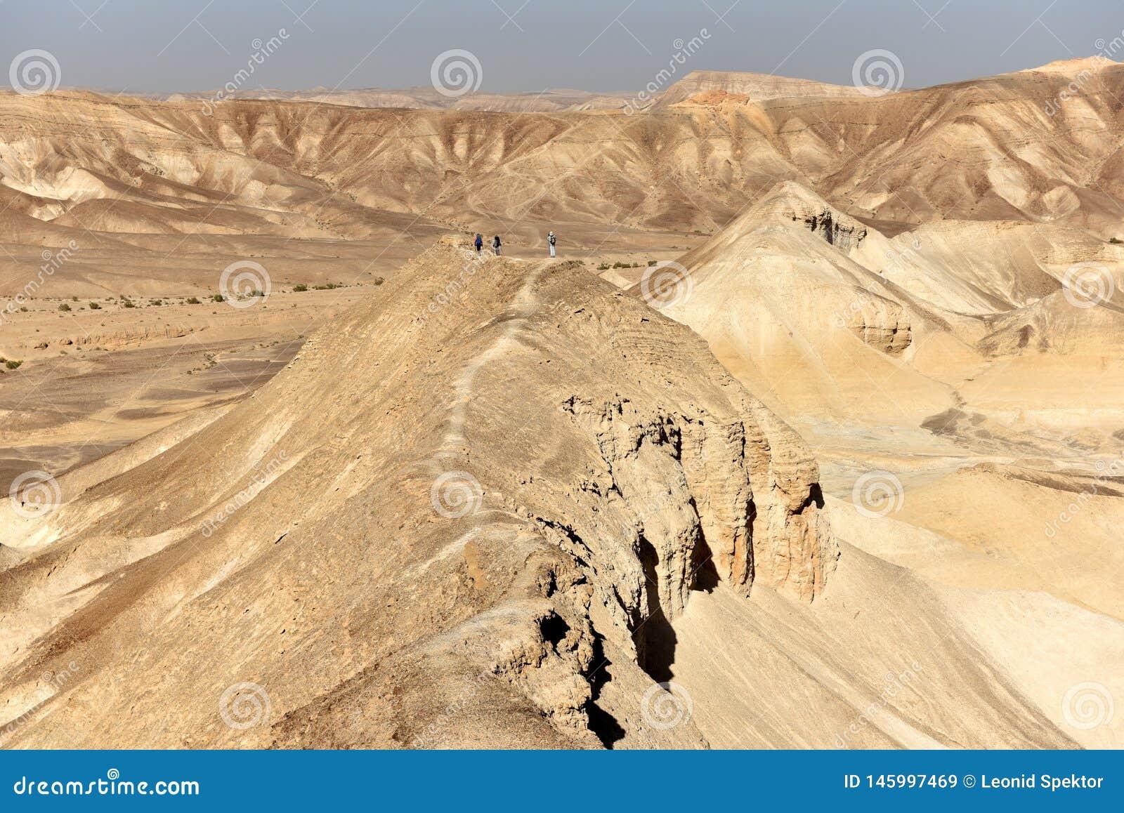 Wandeling in woestijnbergen