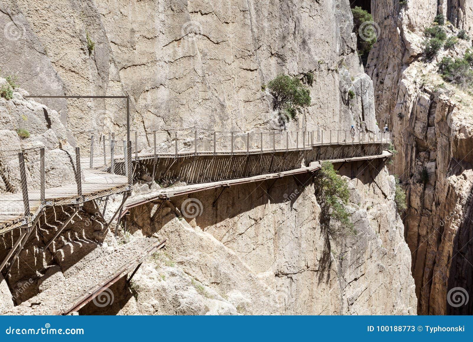 Wandelingssleep Caminito del Rey De Provincie van Malaga, Spanje