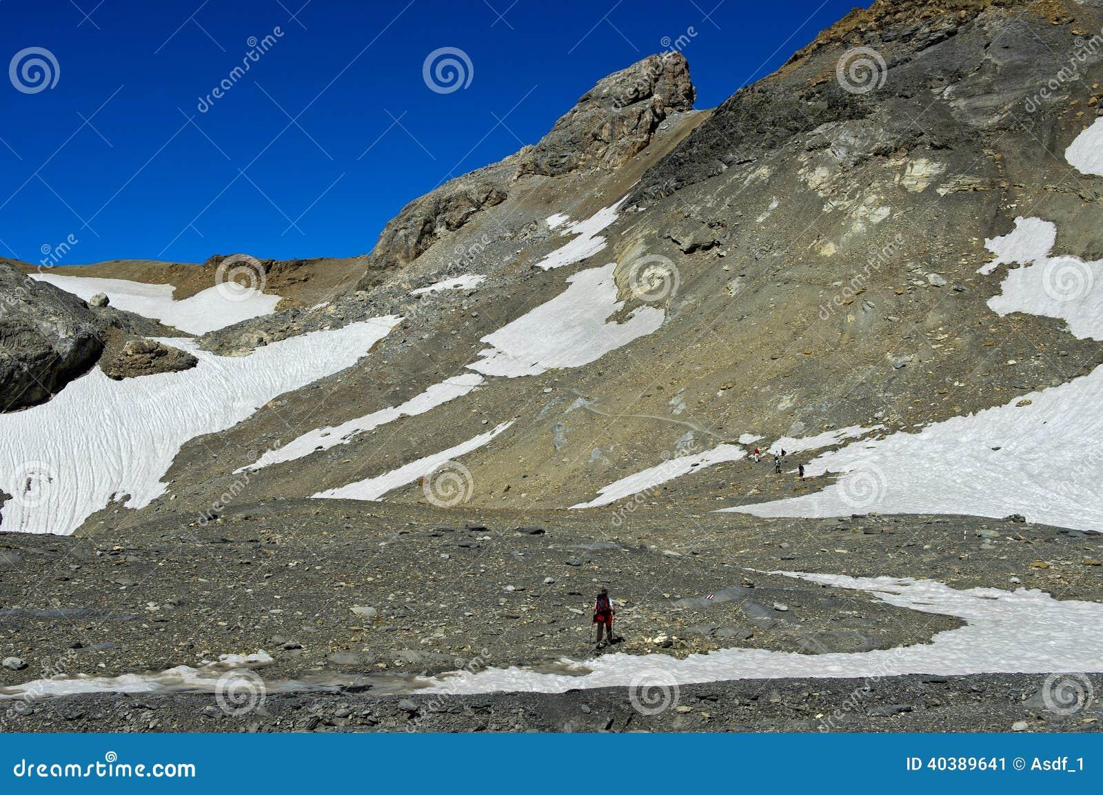 Wanderer im Hochgebirge