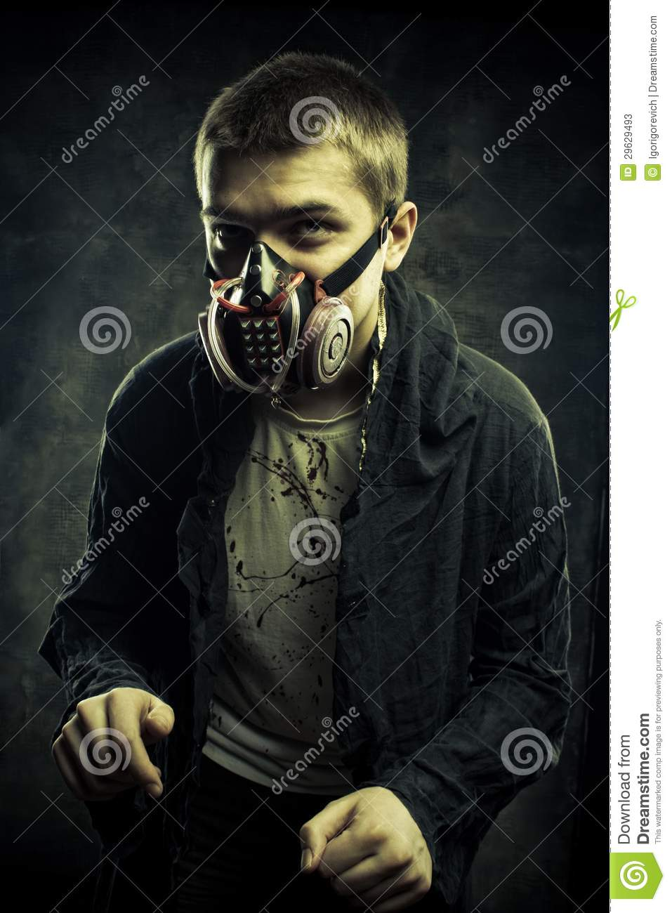 Gas Credit Cards >> Wanderer Of Post Apocalyptic World Stock Photos - Image: 29629493
