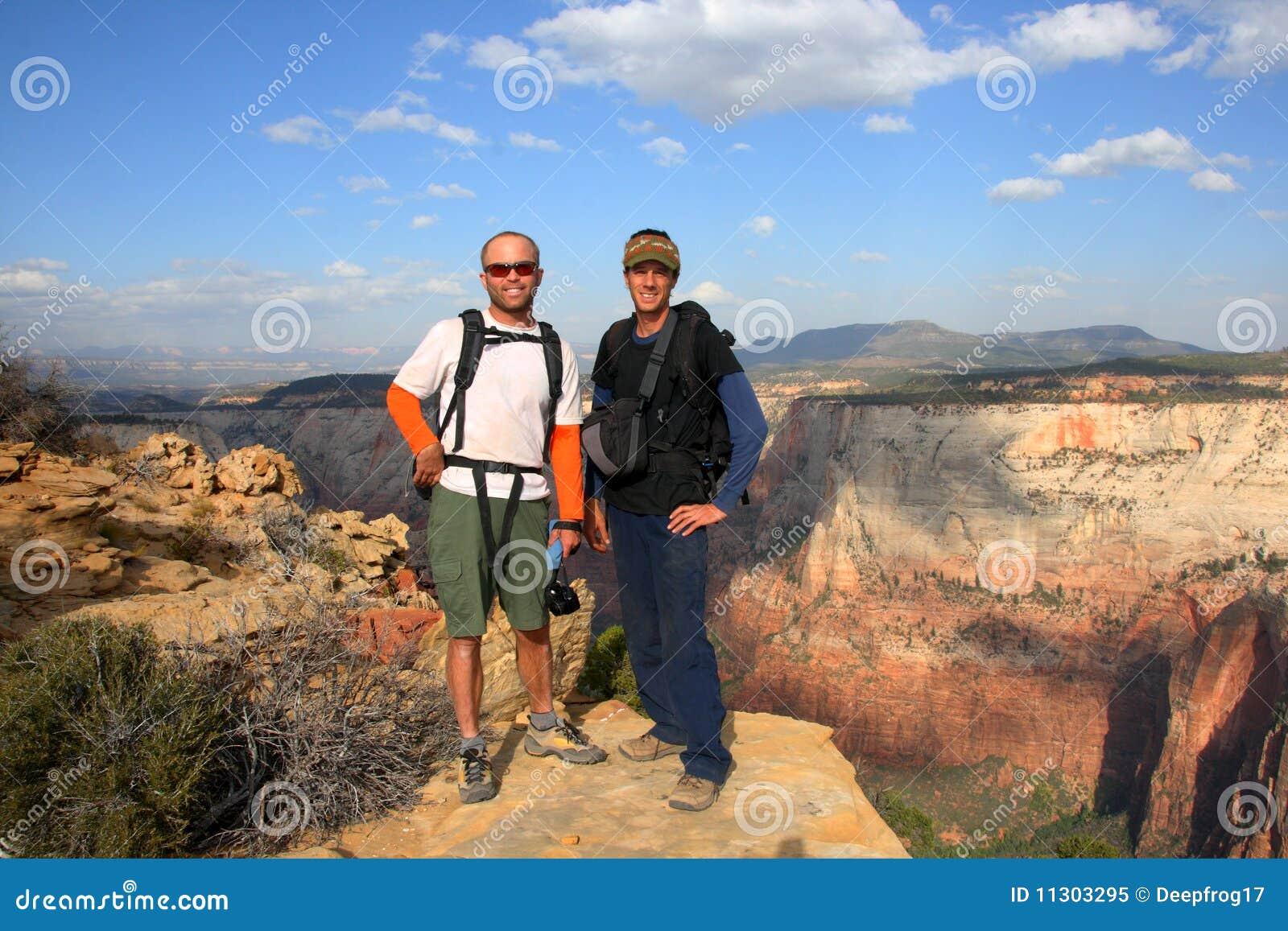 Wanderer Zion im Nationalpark