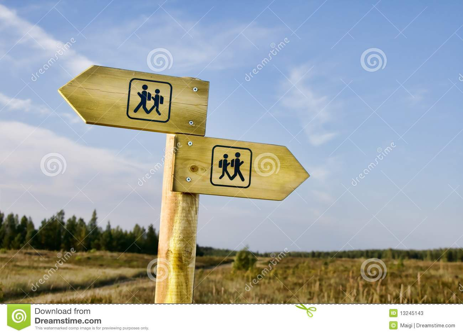 Wandern von Signpost
