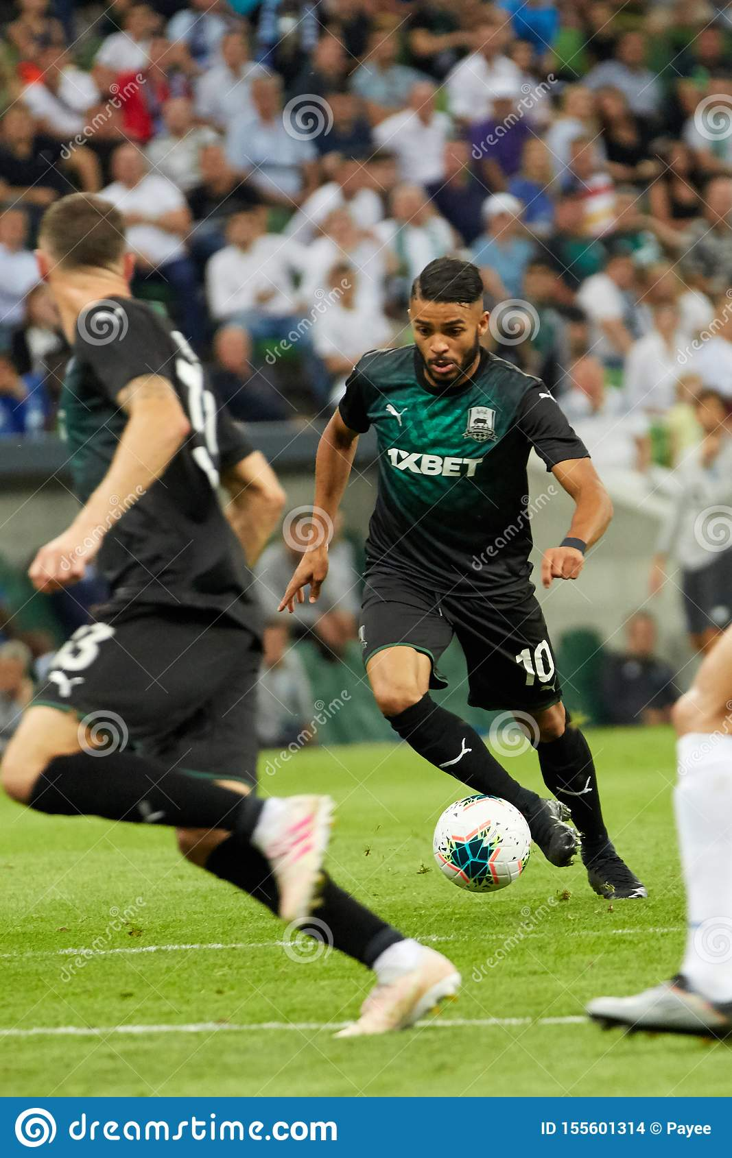 Wanderson Of Fc Krasnodar In Action Editorial Stock Image Image Of Game Grass 155601314