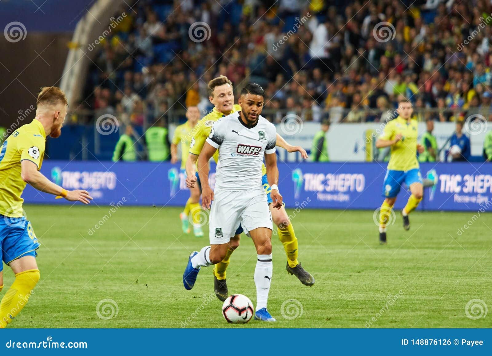 Wanderson Maciel Sousa Campos Of Fc Krasnodar Controls The Ball Editorial Photo Image Of Match Goal 148876126