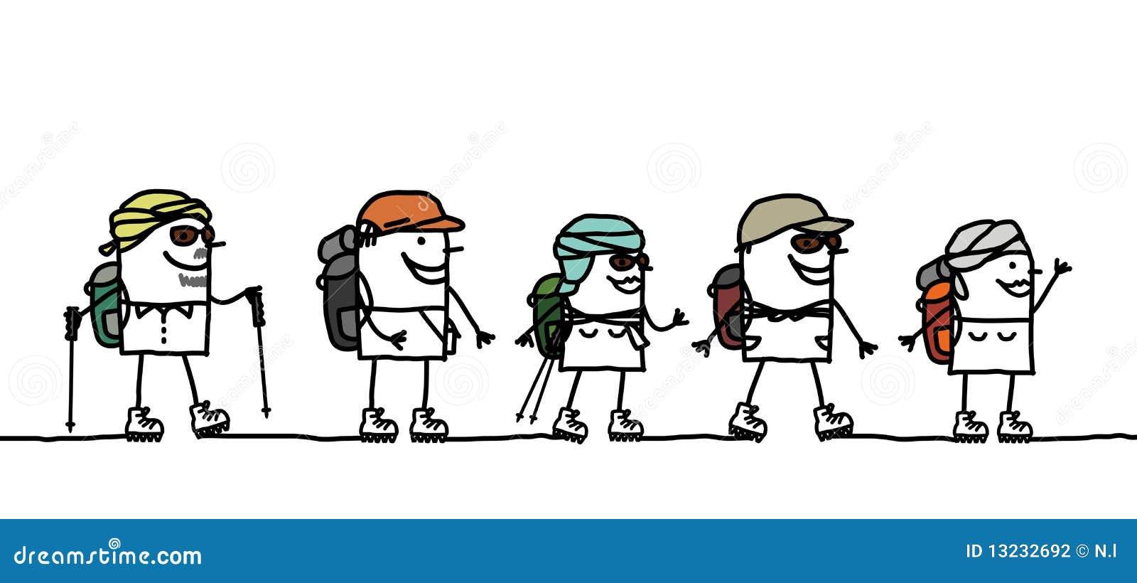 Wanderung In Der W 252 Ste Vektor Abbildung Illustration Von