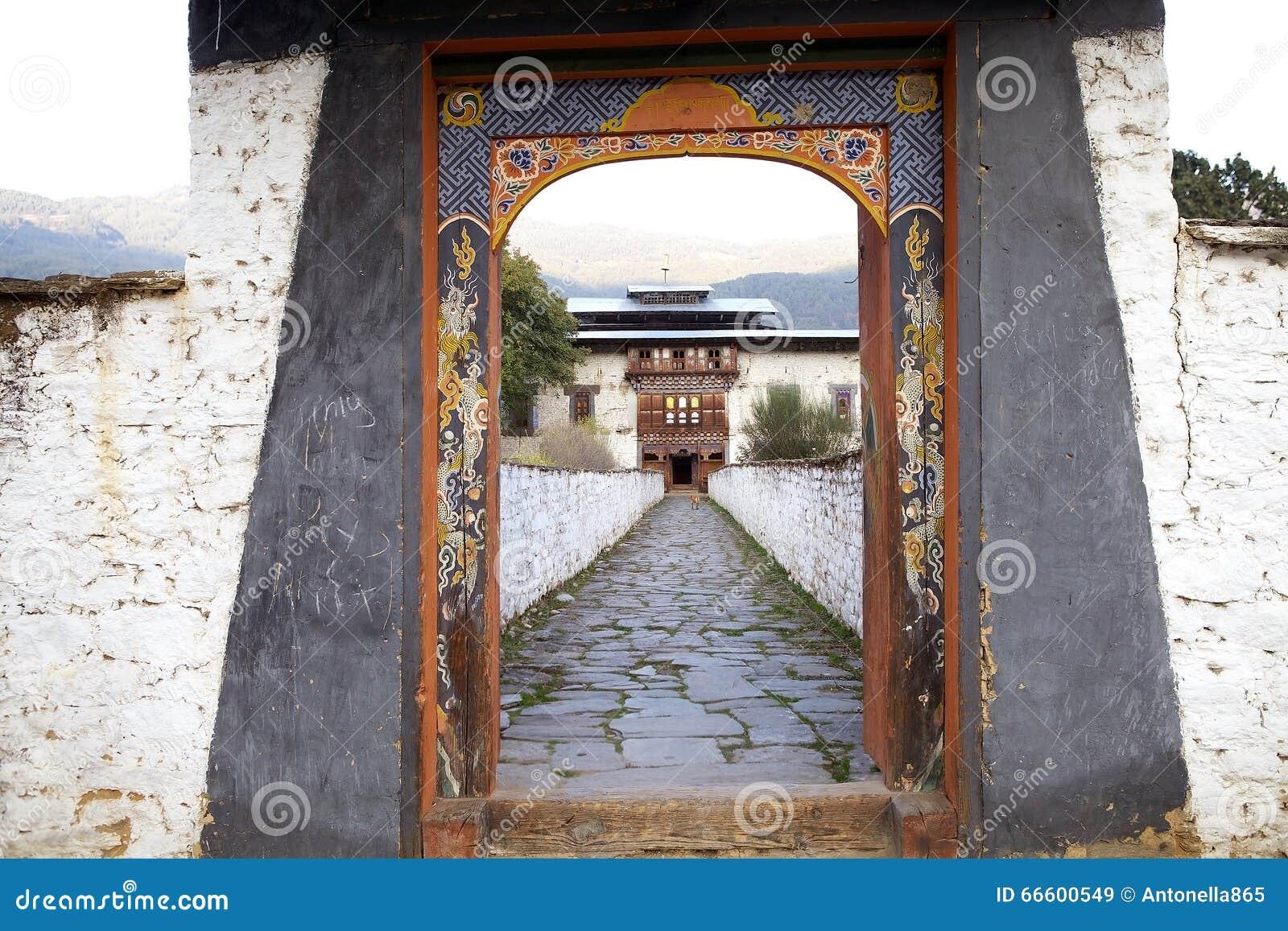 Wangduechhoeling pałac ruiny, Bumthang, Bhutan