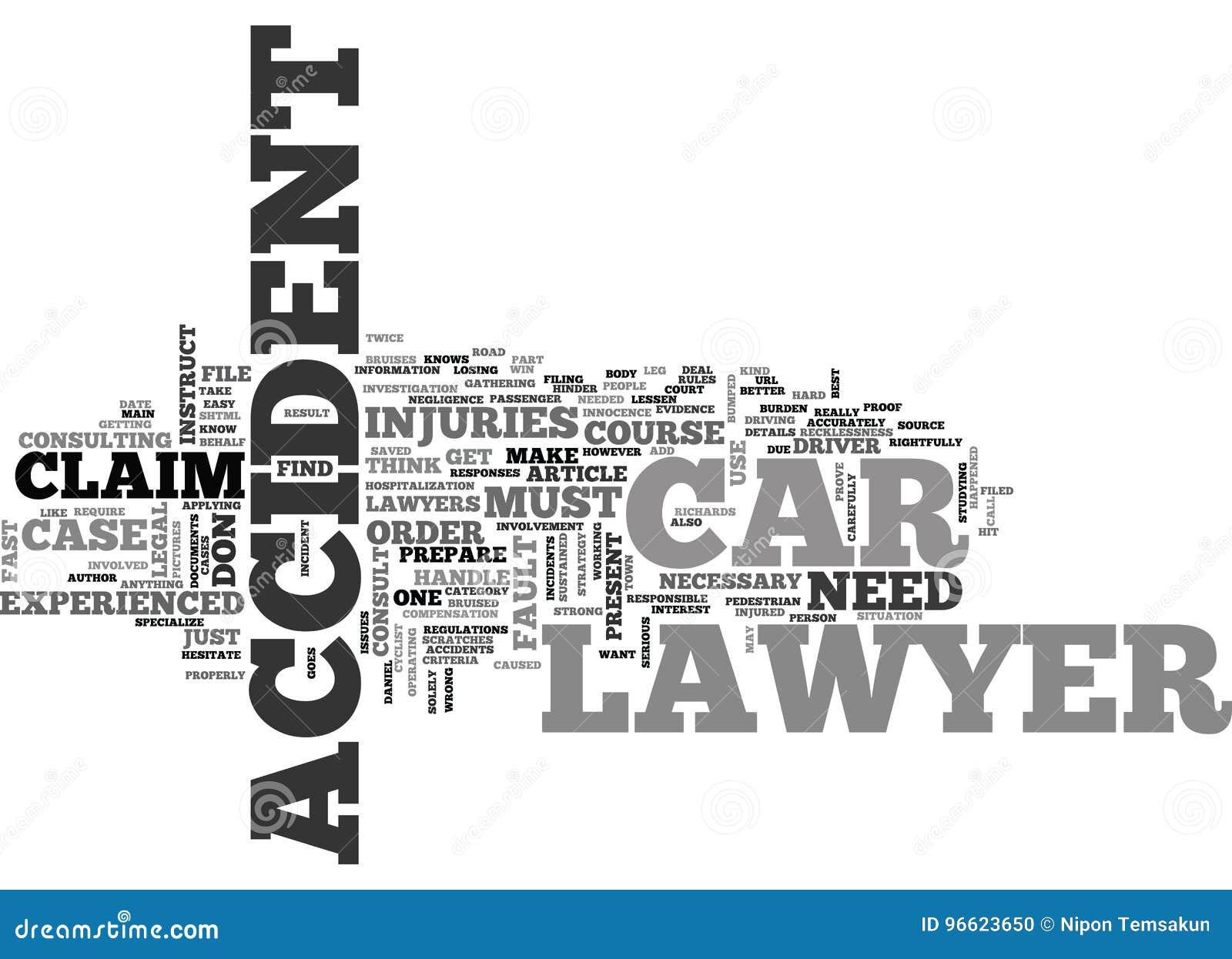 Wanneer indien u een Advocaat Word Cloud van het Autoongeval instrueert