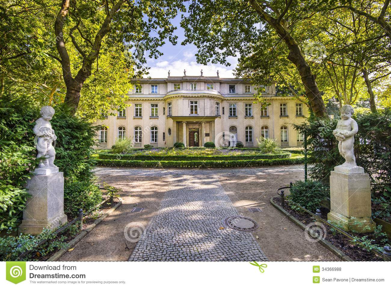 Wannsee house in germany editorial stock photo