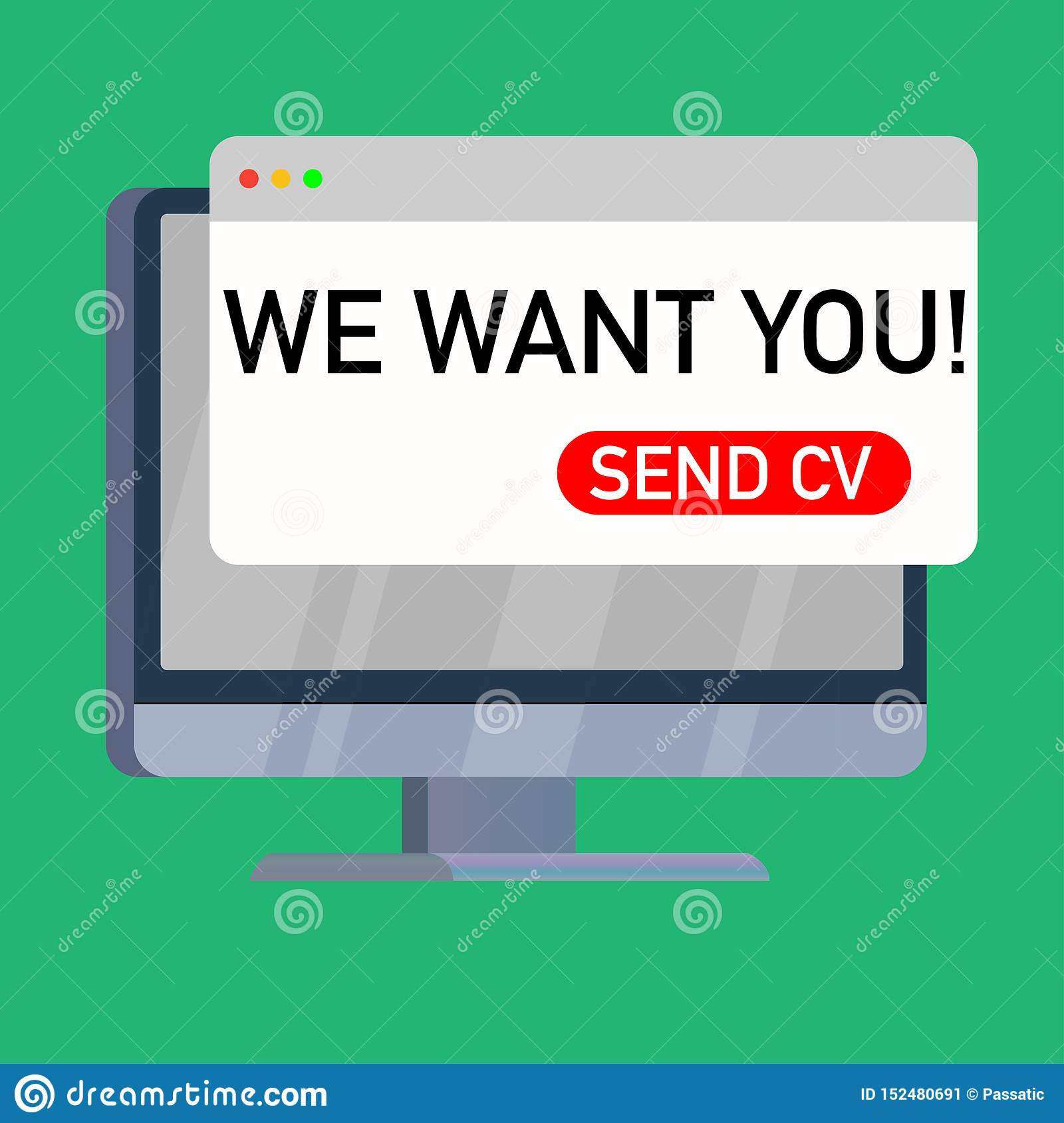 we want you cv on computer screen