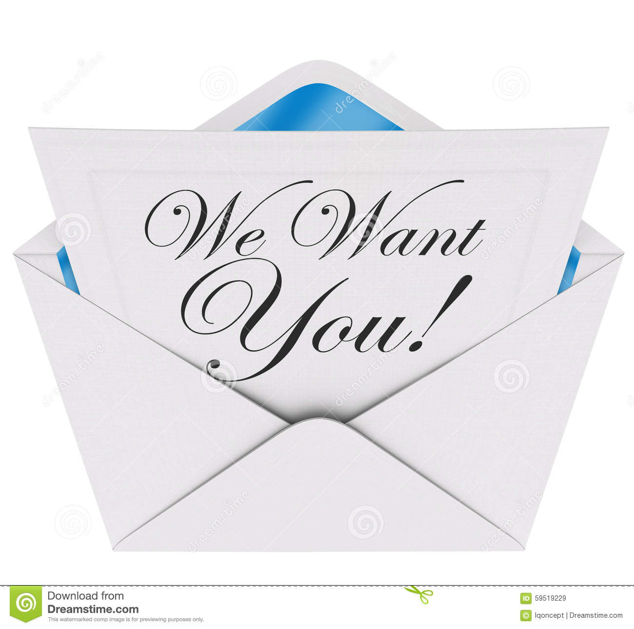 We want you invitation letter envelope need your participation j we want you invitation letter envelope need your participation j stopboris Images