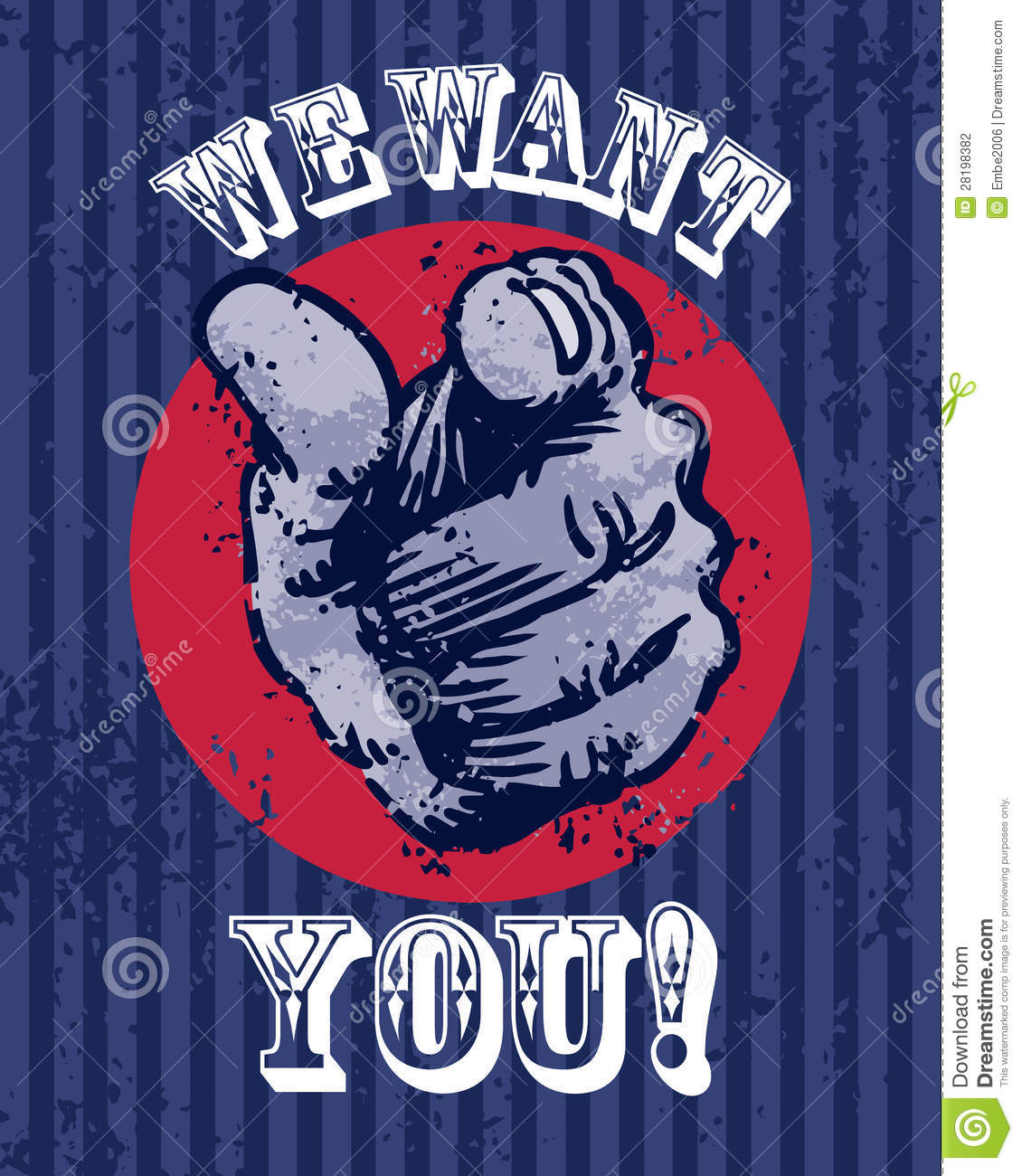 Roseburg (OR) United States  city pictures gallery : poster of the words We Want You with a finger pointing.