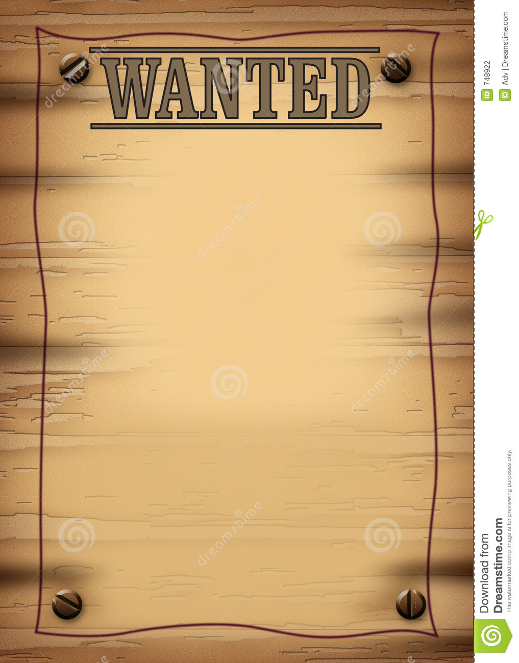 Wanted 2 Jpg Stock Photography Image 748922
