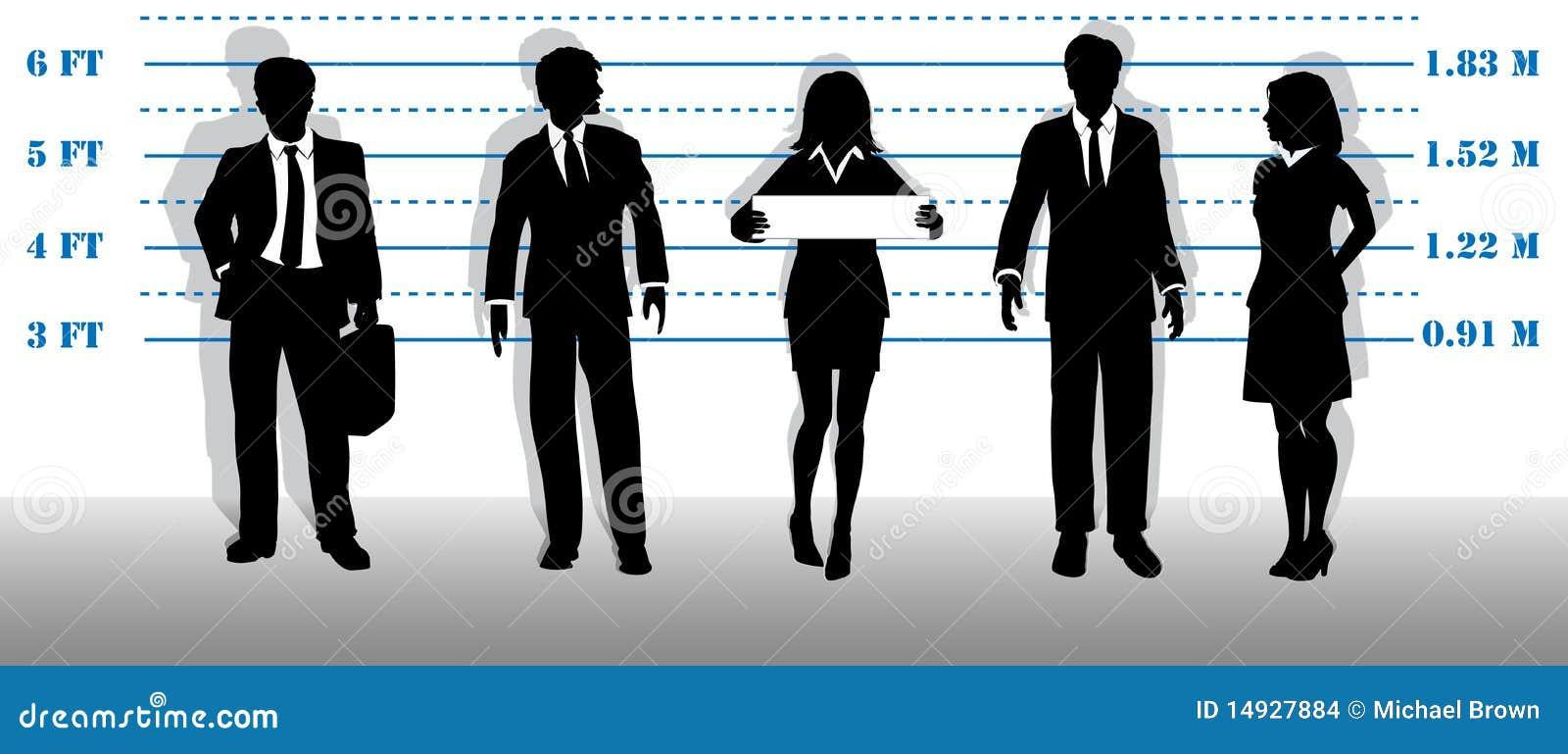 wanted business people lineup mugshot stock illustration