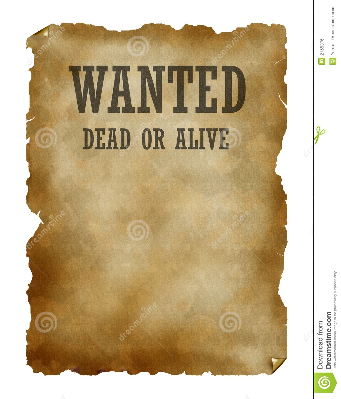 Wanted Dead Or Alive Stock Illustration Illustration Of Brown 2155376