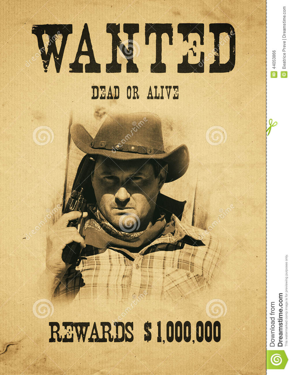 Wanted Far West Stock Photo - Image: 44053866