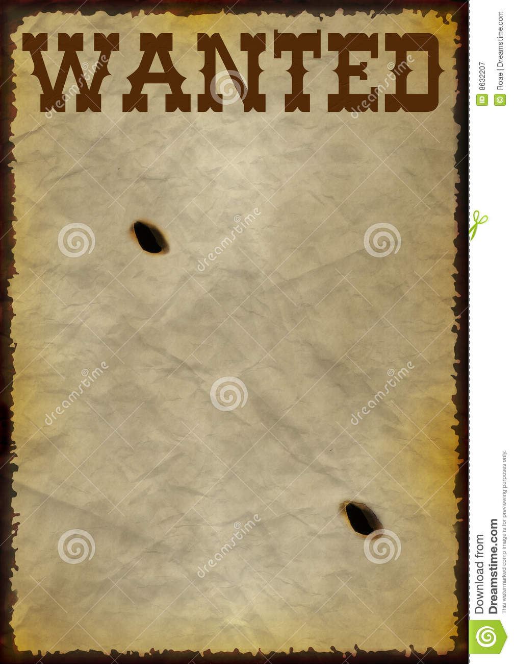 Wanted Frame Royalty Free Stock Photography Image 8632207