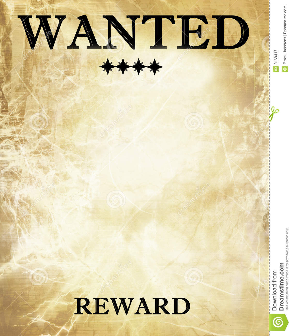 Wanted Paper Royalty Free Stock Photography - Image: 8168417