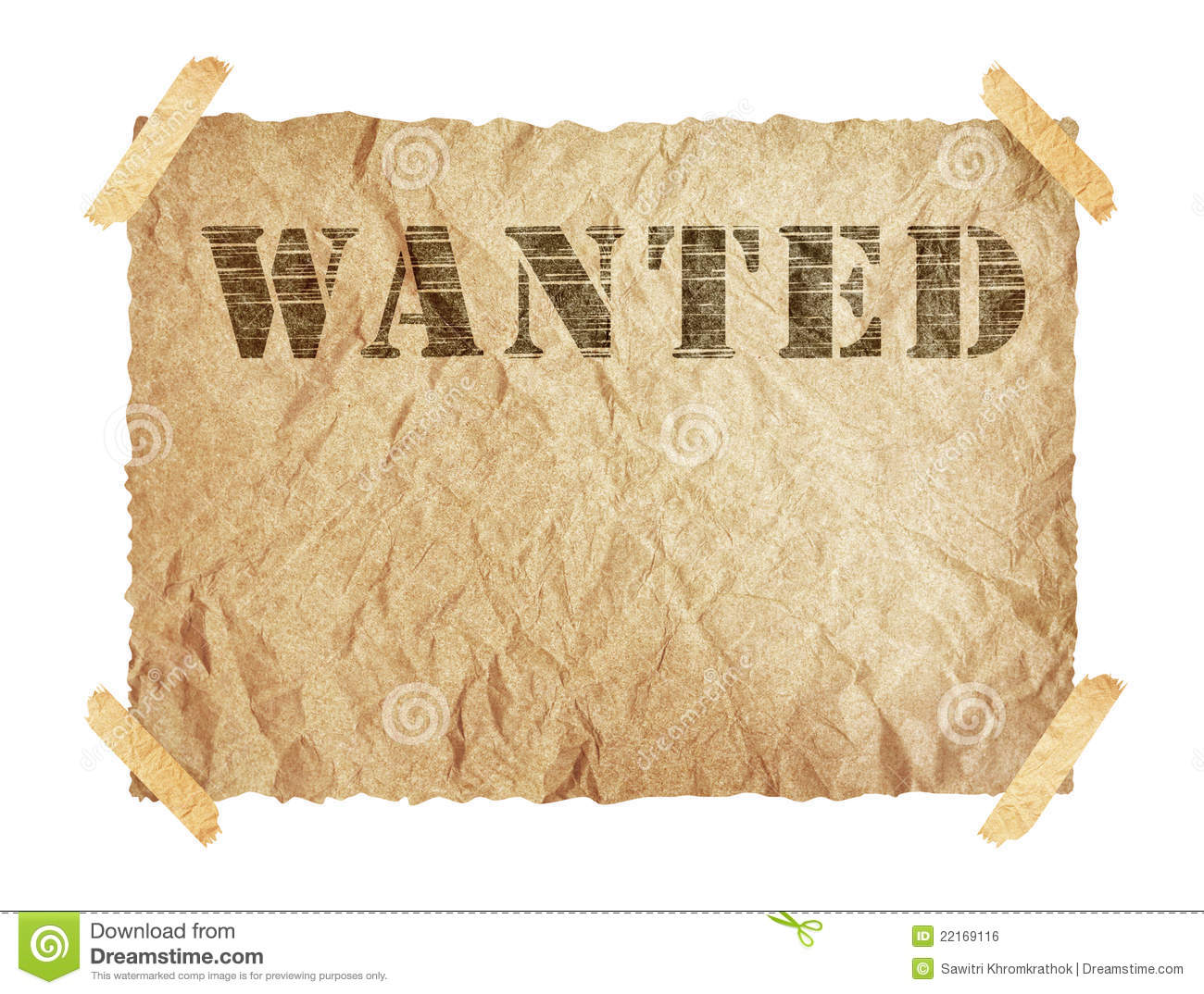 Wanted Paper Sign Royalty Free Stock Image Image 22169116