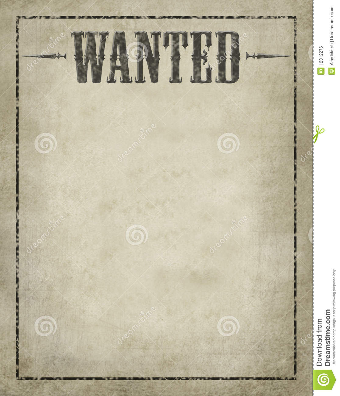 Wanted Poster stock illustration Illustration of wanted 12812276