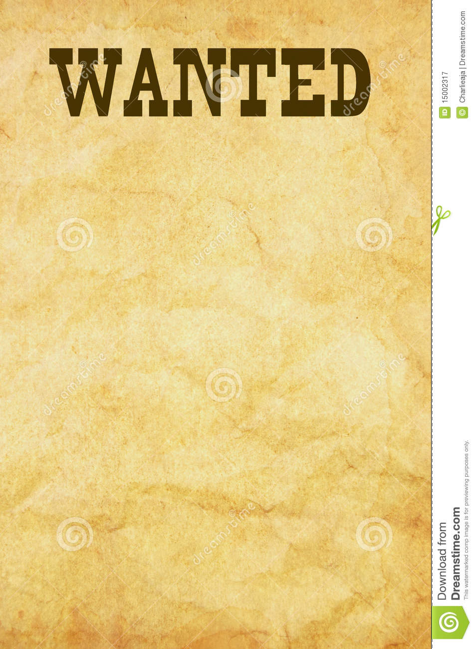 Wanted poster stock illustration Illustration of advert 15002317