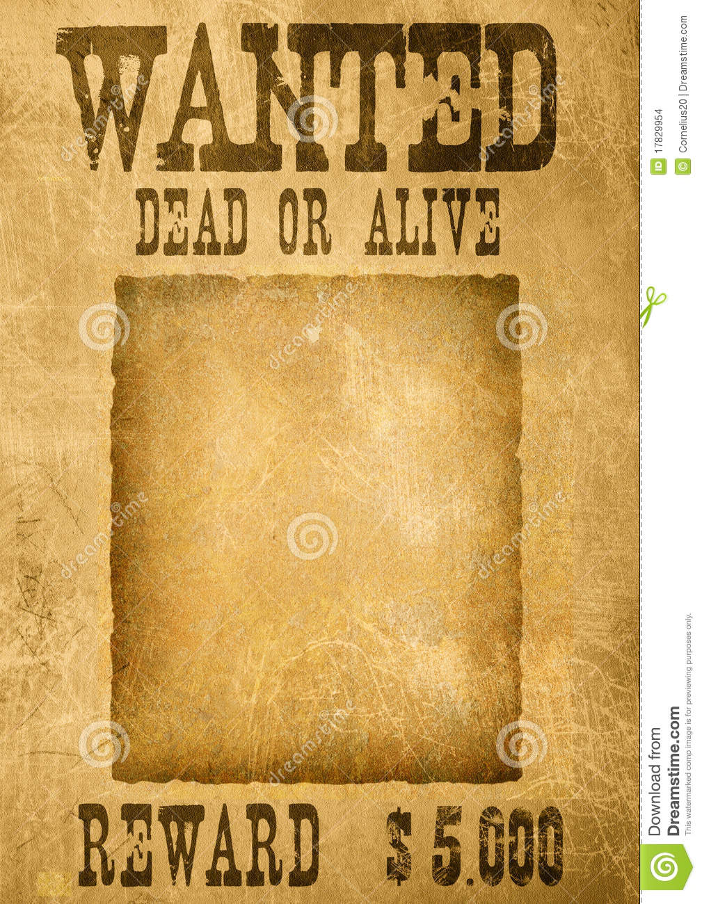 wanted poster template microsoft word