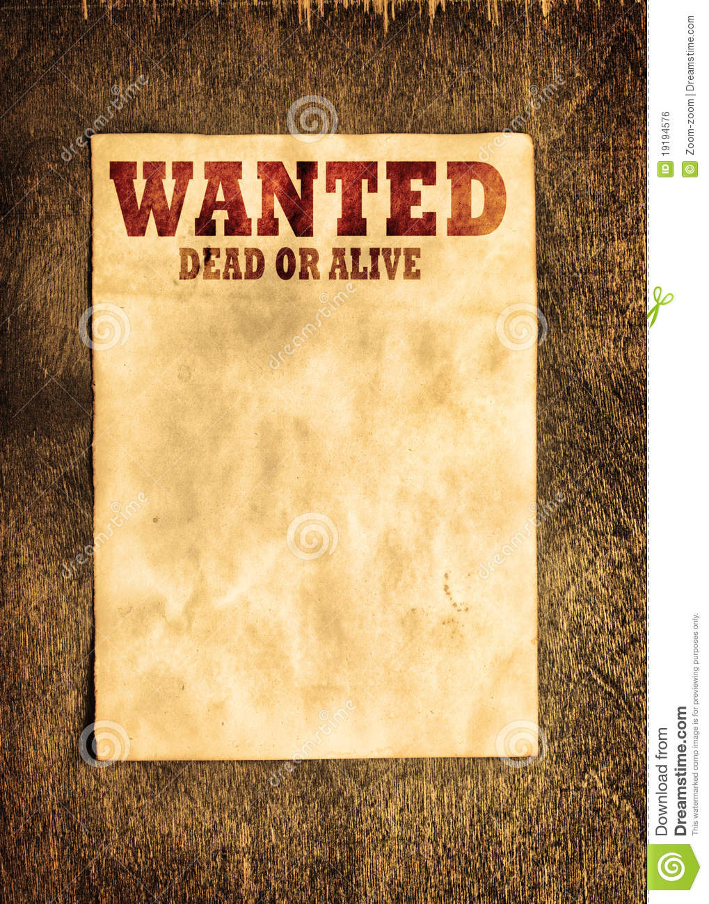 wanted posters template – Template for a Wanted Poster