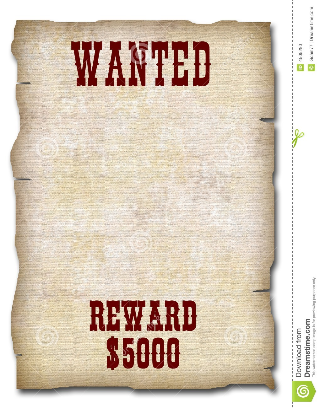 Old West Style Wanted Poster