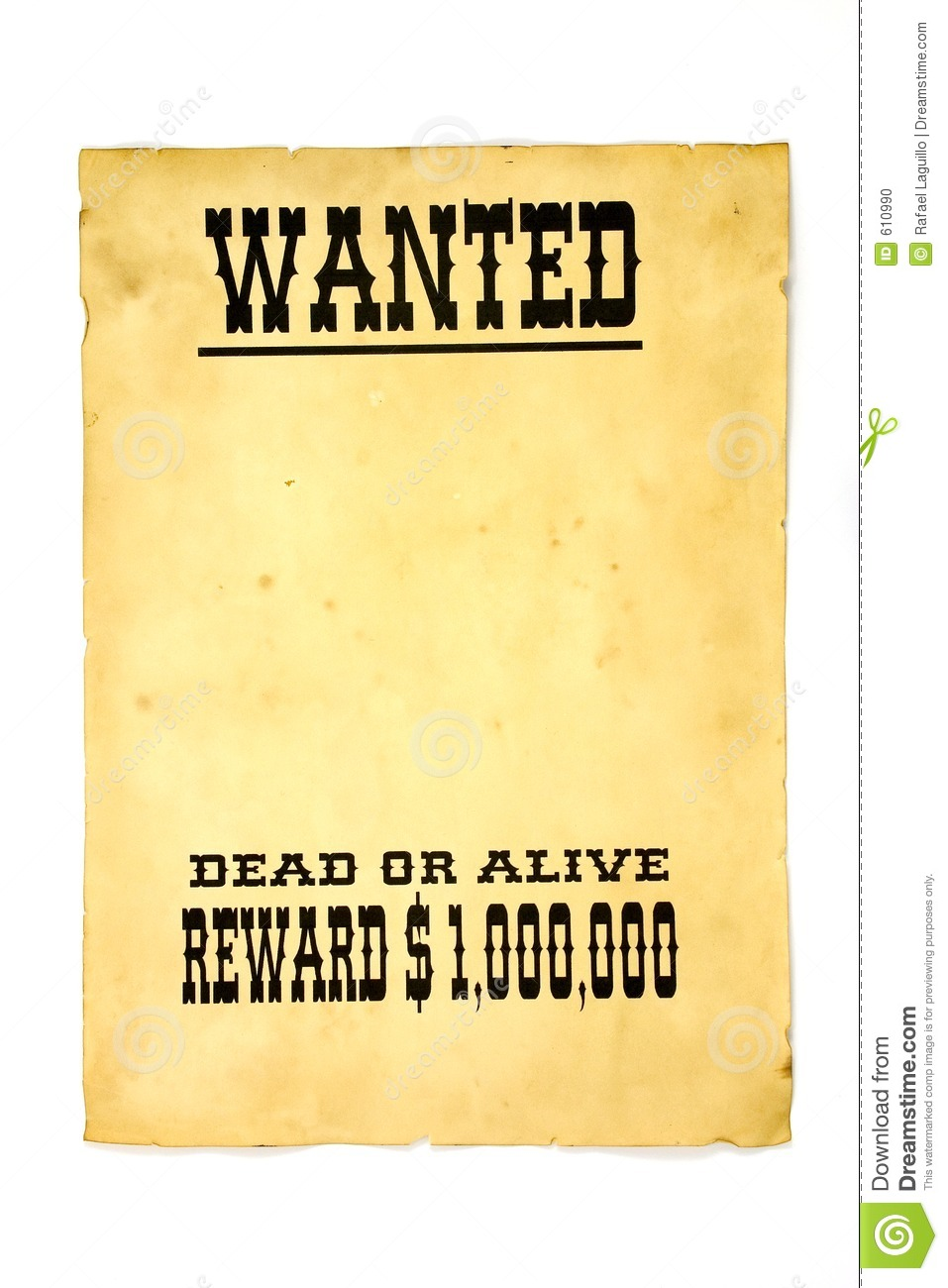 Wanted Poster Stock Photo - Image: 610990
