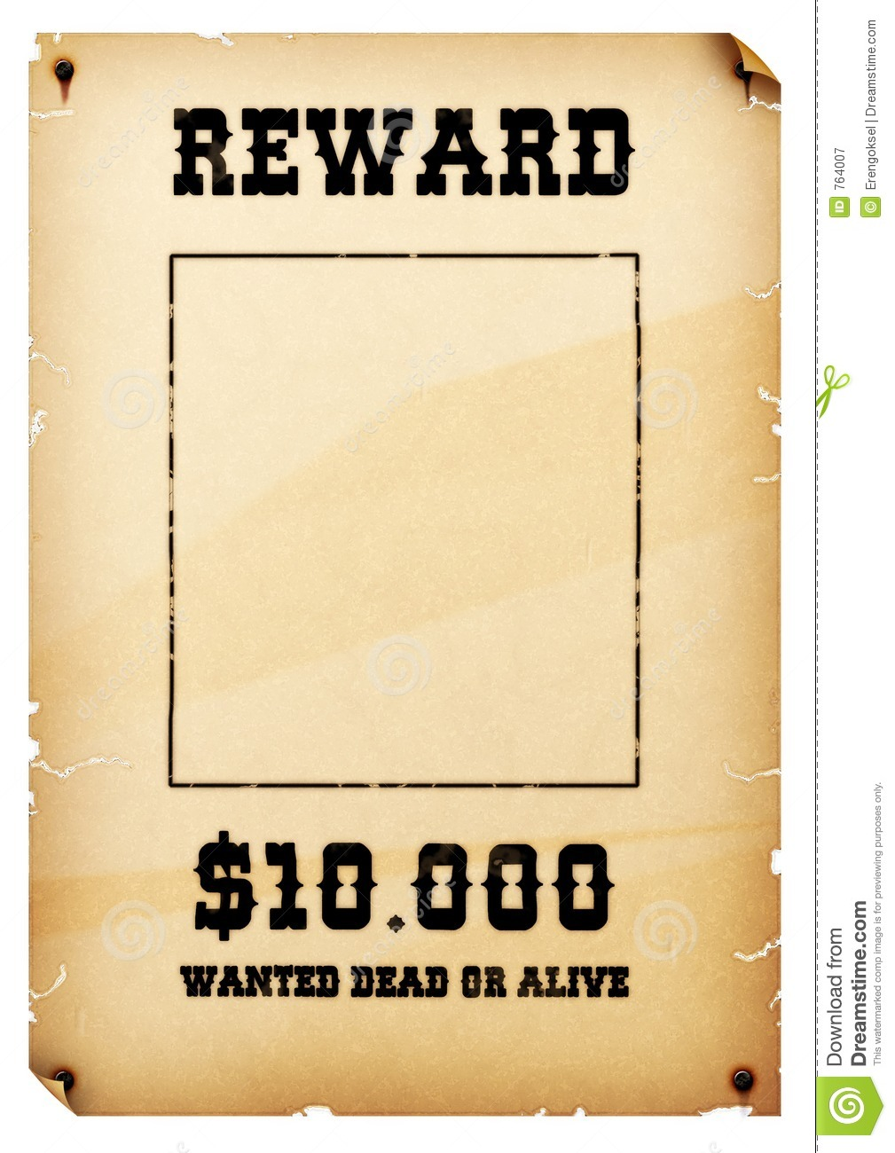Wanted Poster stock illustration Illustration of money 764007