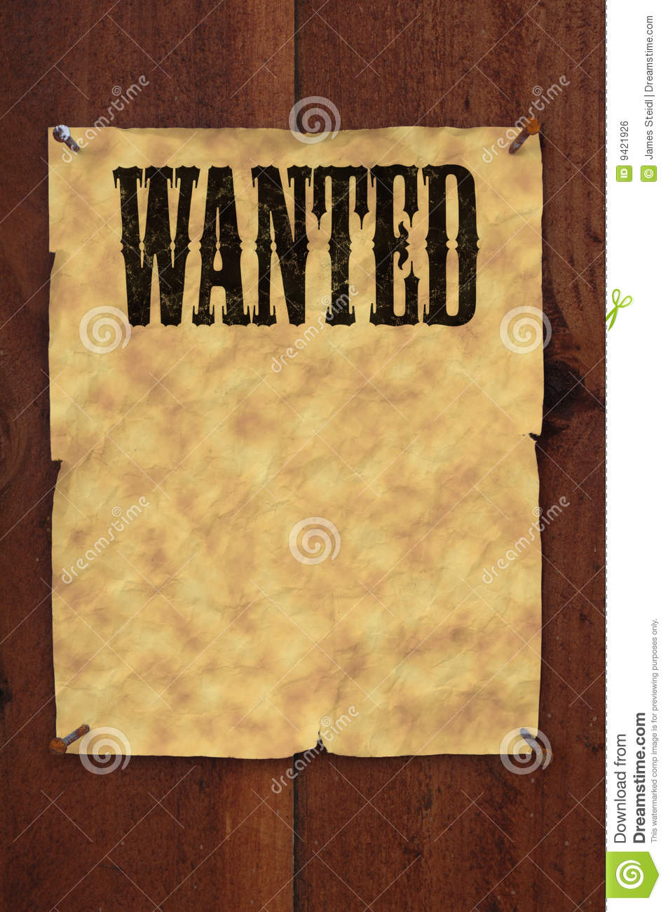Wanted Poster Stock Illustration  Illustration Of Nails