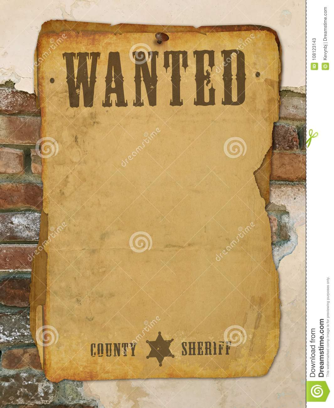 Wanted Poster Old West stock illustration. Illustration of cowboy ...