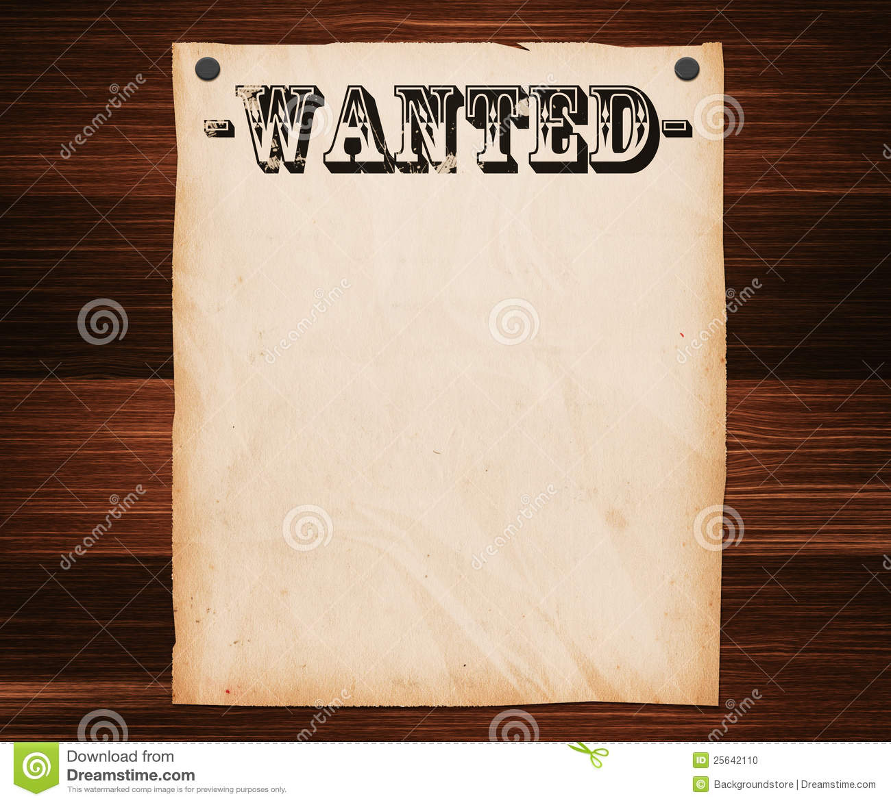 Wanted Poster On Wooden Wall Stock Photo - Image of grain, plank ...