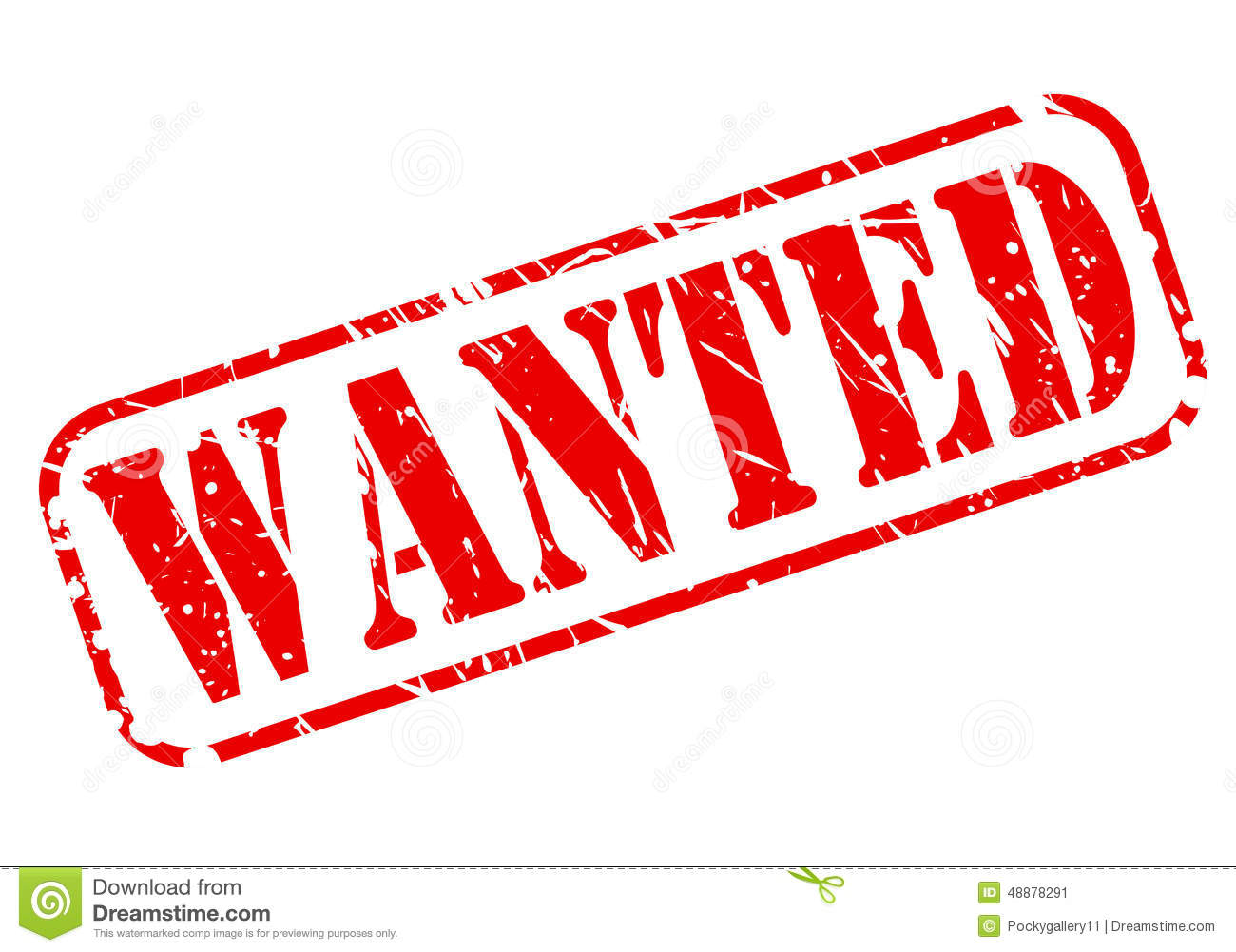 wanted red stamp text stock vector image 48878291
