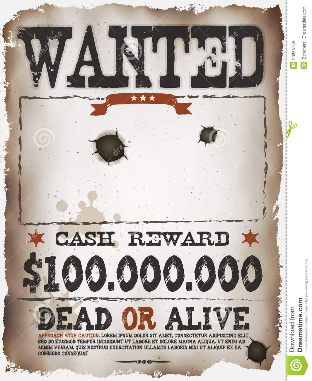 Wanted Vintage Western Poster  Free Wanted Poster Template Download