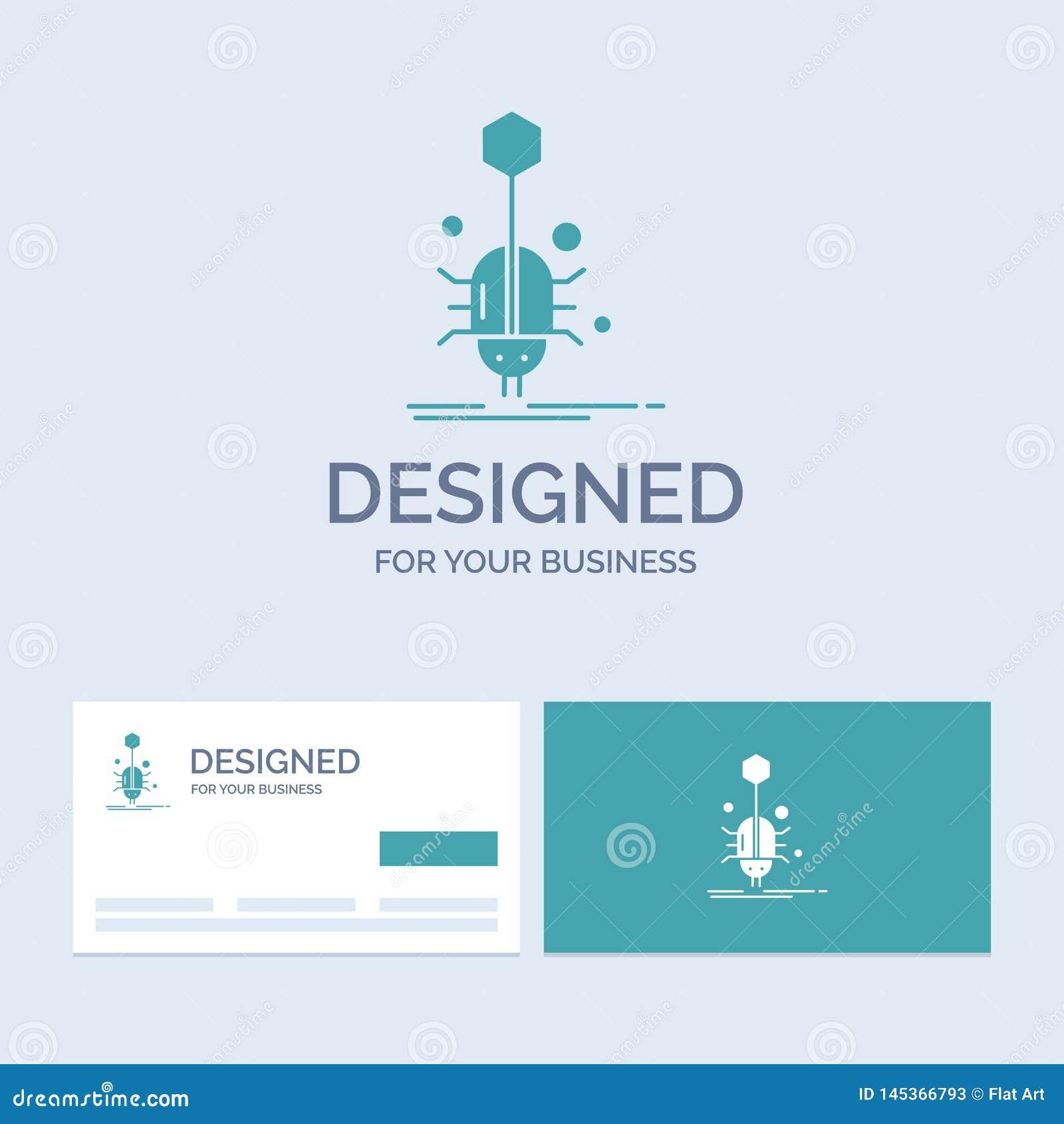 Wanze, Insekt, Spinne, Virus, Netz Geschäft Logo Glyph Icon Symbol für Ihr Geschäft T?rkis-Visitenkarten mit Markenlogo