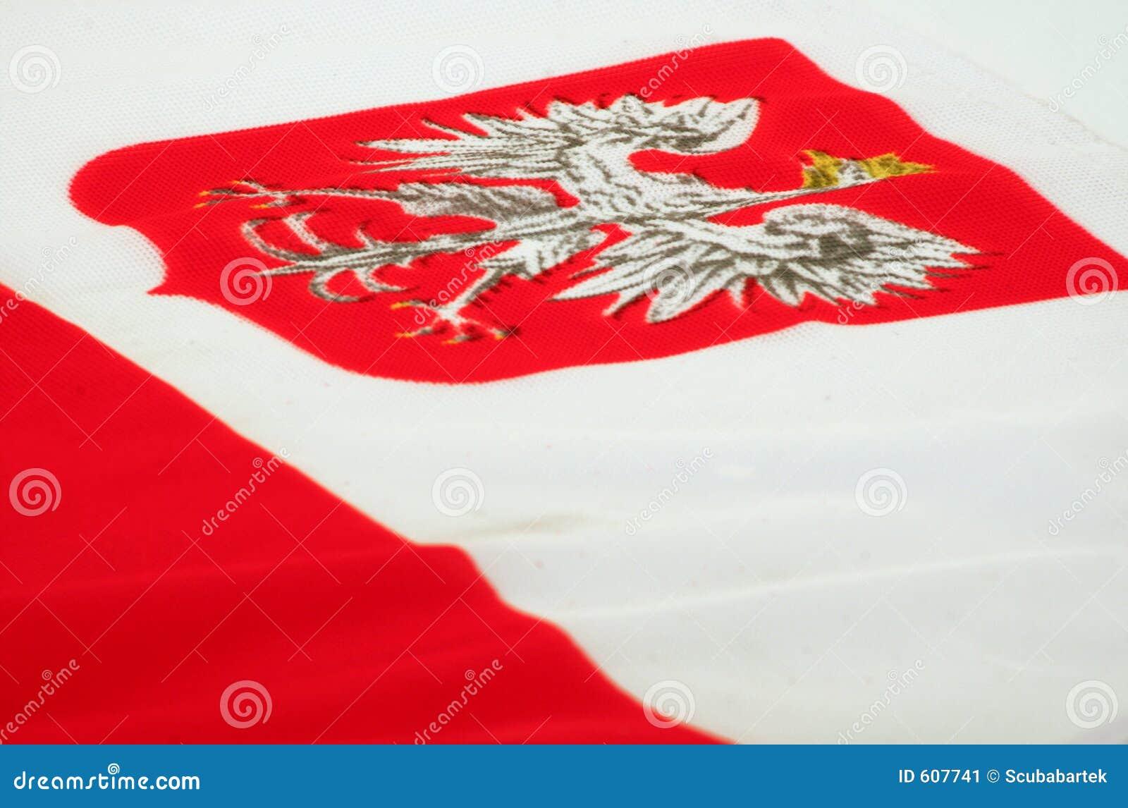 Wapenschild van Polen op een vlag