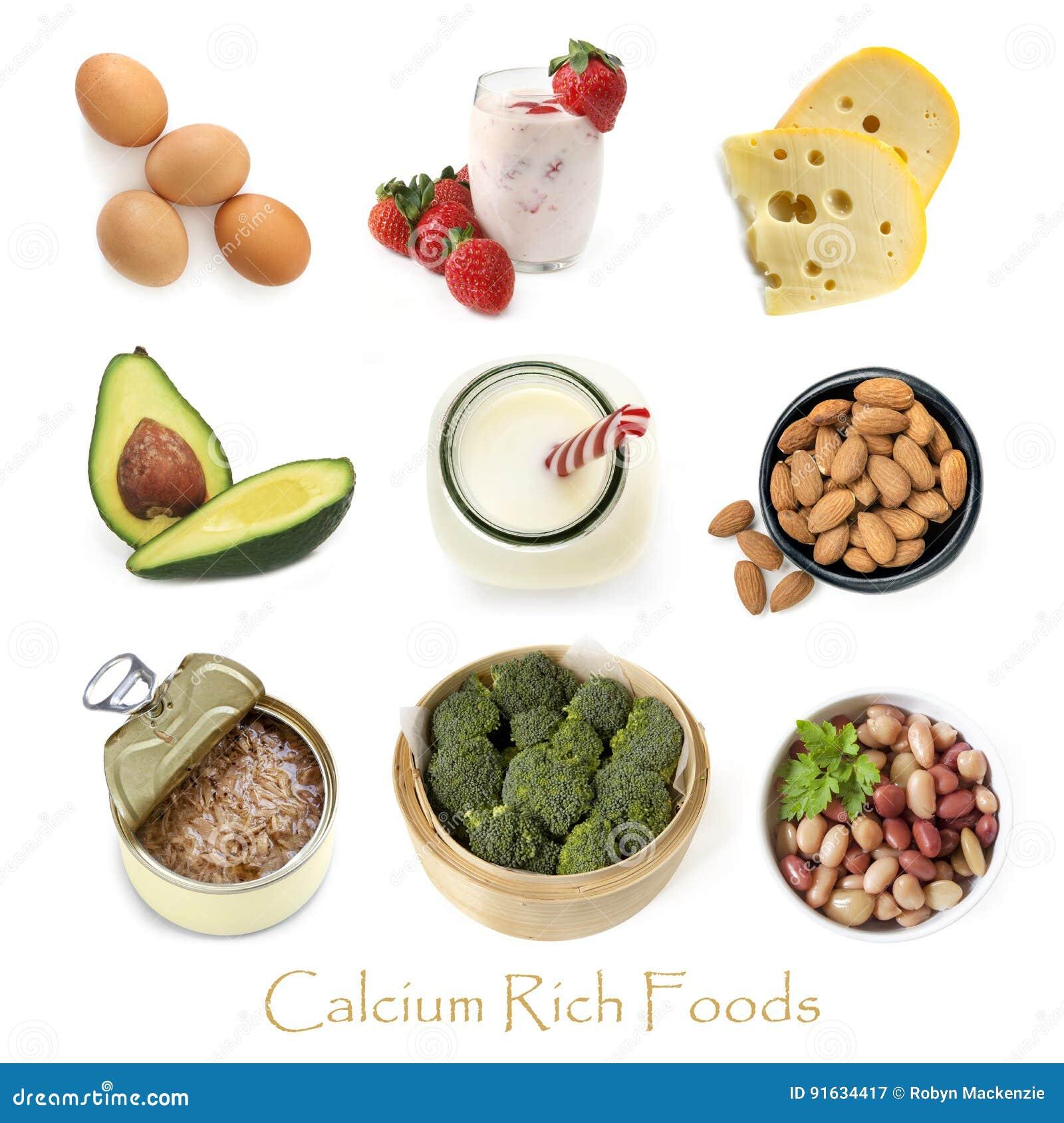 Wapni Bogaci Foods Odizolowywający na bielu