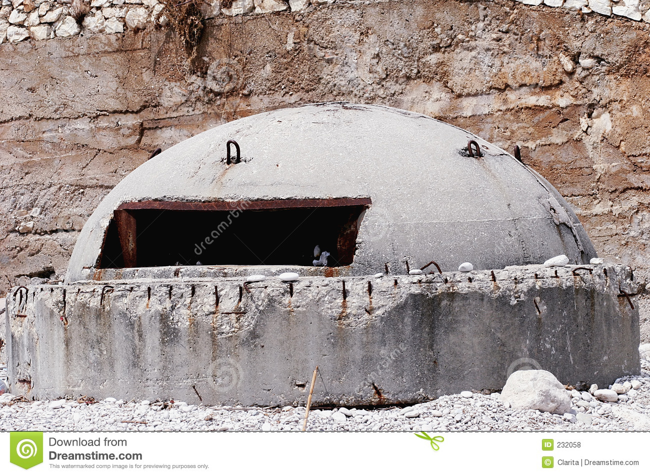 War Bunker Royalty Free Stock Photos - Image: 232058