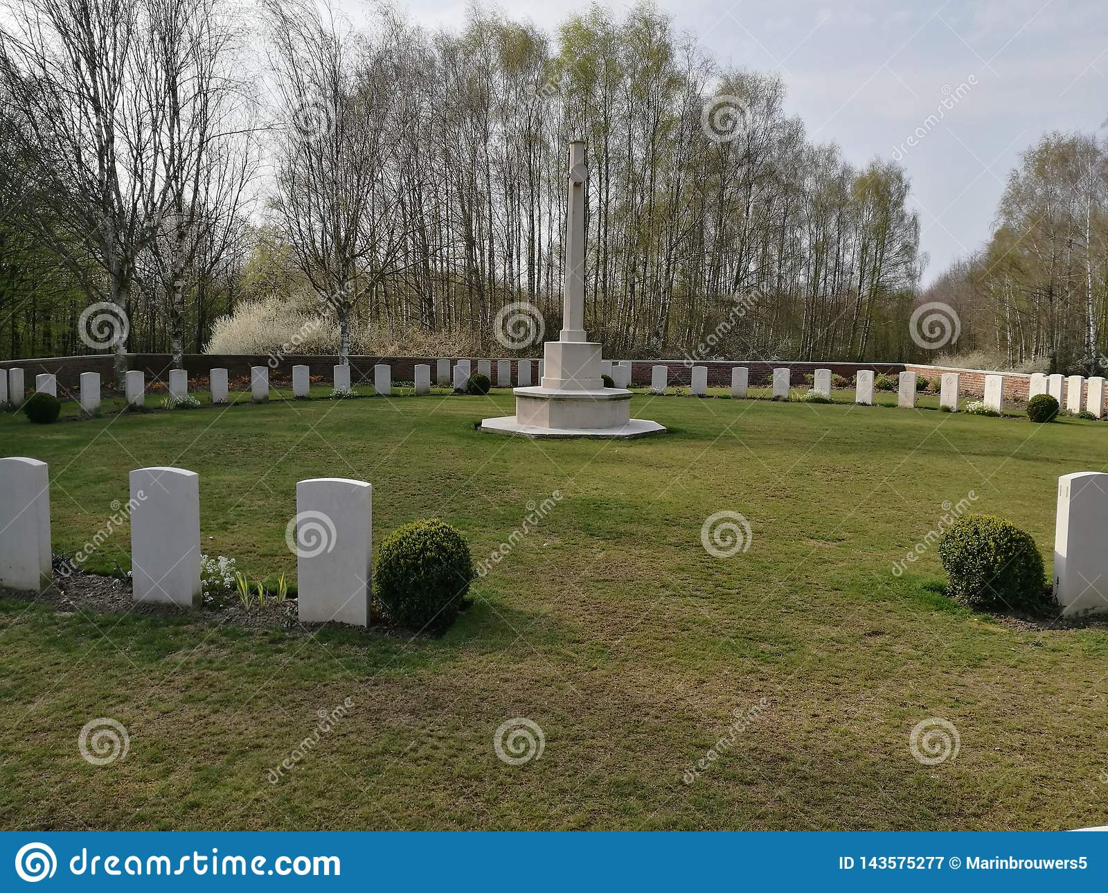 War graves from the first world war in Belgium in Ypres