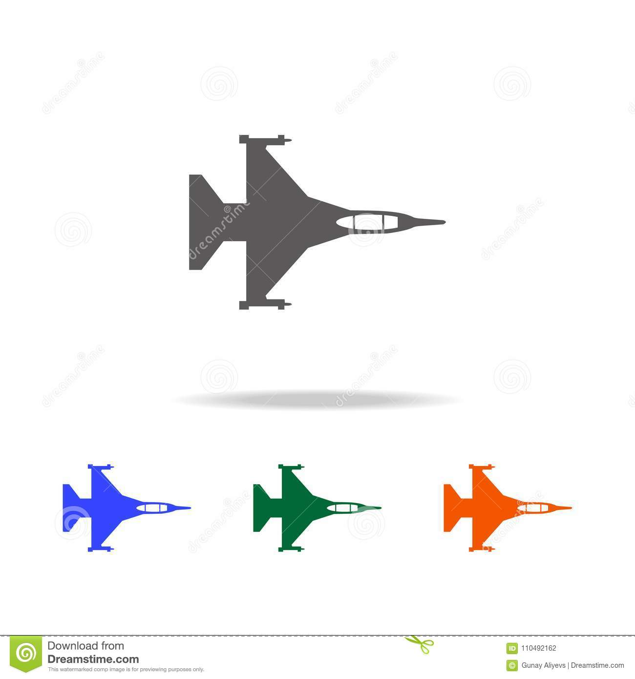War Plane Icon  Elements Of Military Aircraft In Multi