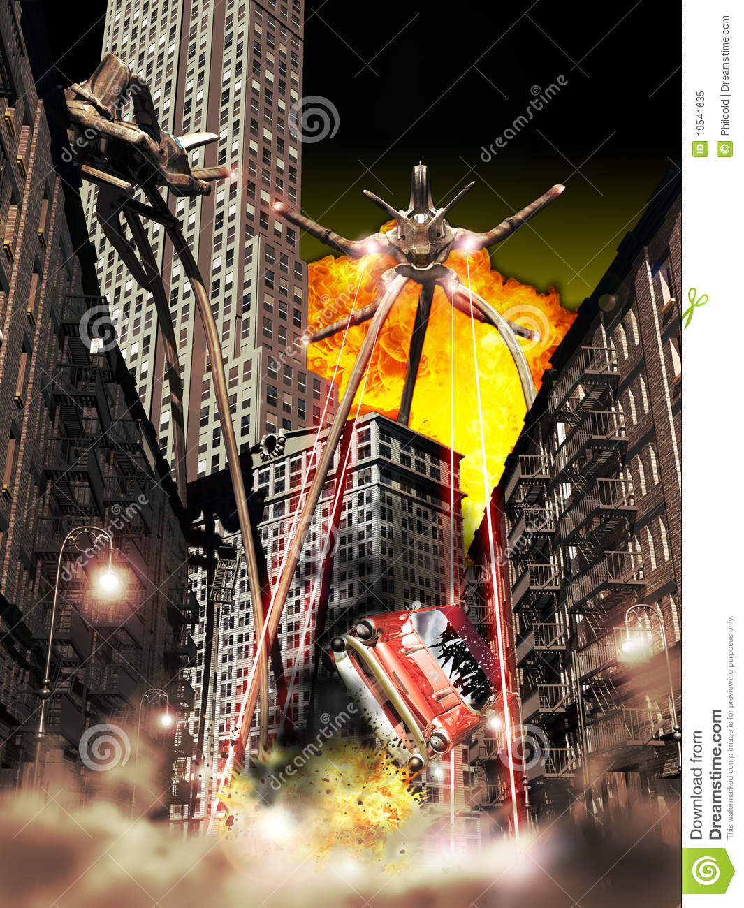 War Of The Worlds Royalty Free Stock Photo