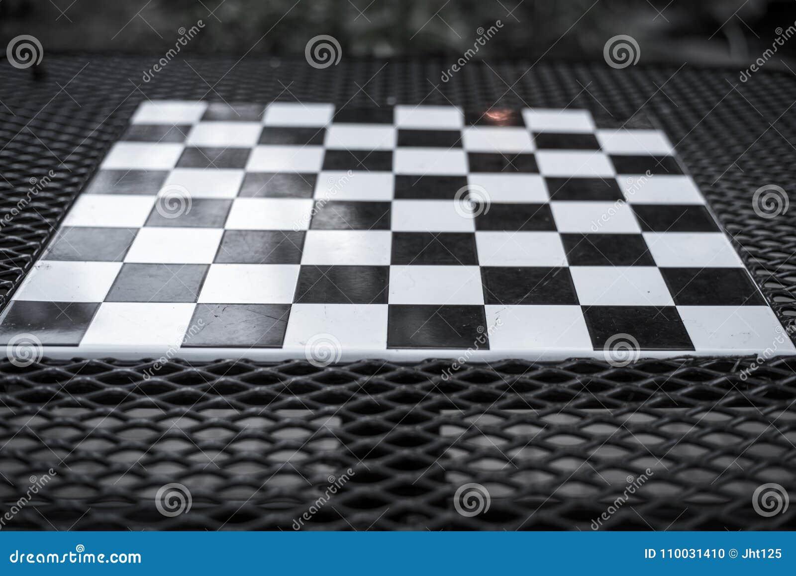 Warcaby deska w czarny i biały
