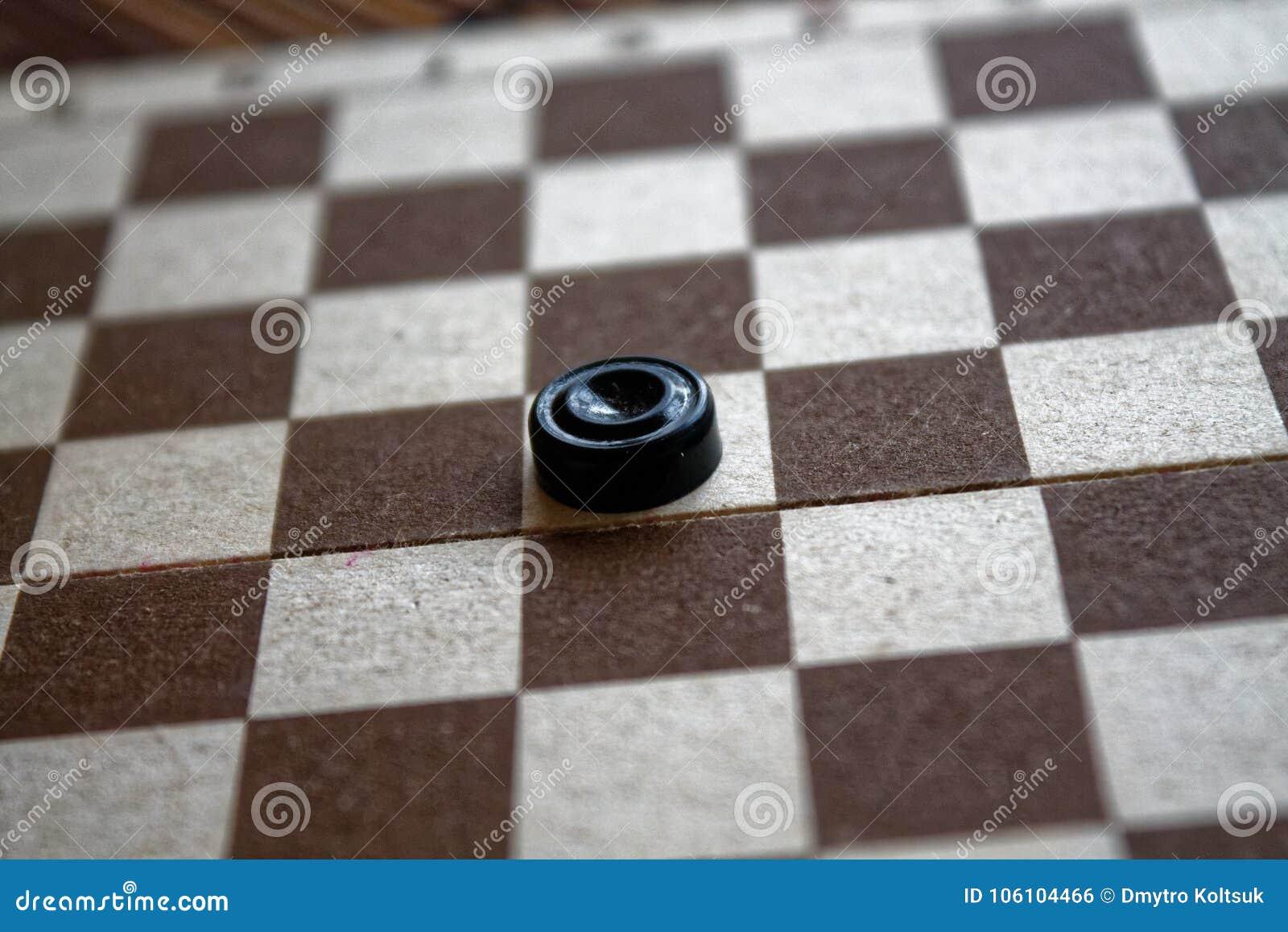Warcaby w szachownicie przygotowywającej dla bawić się 3d abstrakcjonistyczna pojęcia gry ilustracja Gra planszowa hobby warcaby