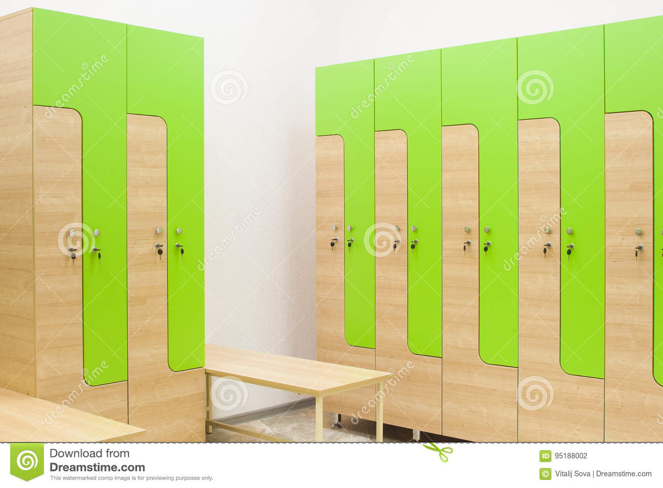 Strange Wardrobe In The Gym And Bench Stock Photo Image Of Design Beatyapartments Chair Design Images Beatyapartmentscom