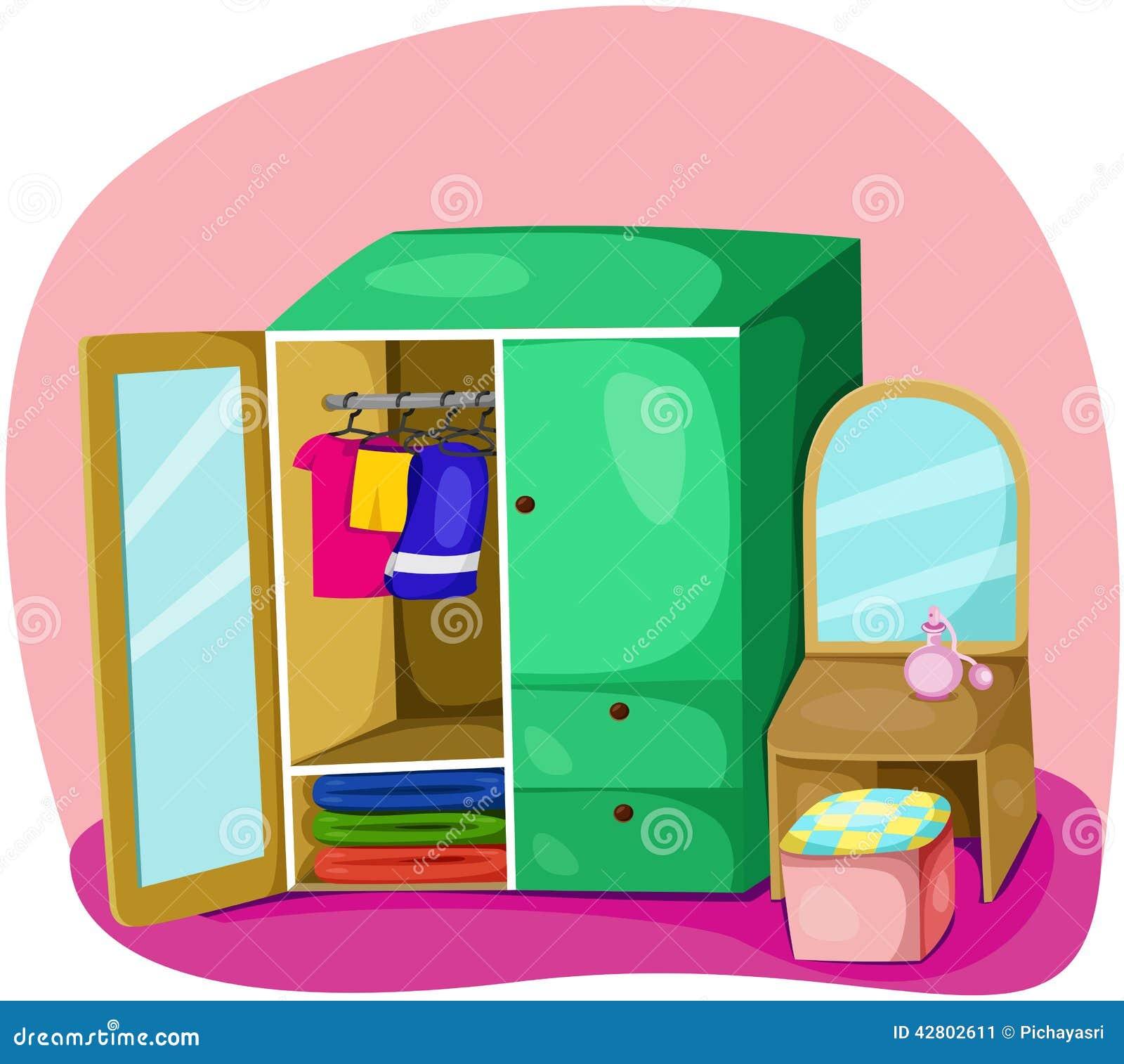 Wardrobe stock illustration image of colour cartoon