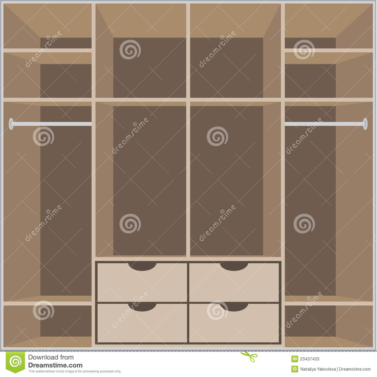 Wardrobe Room Furniture Stock Vector Image Of Room