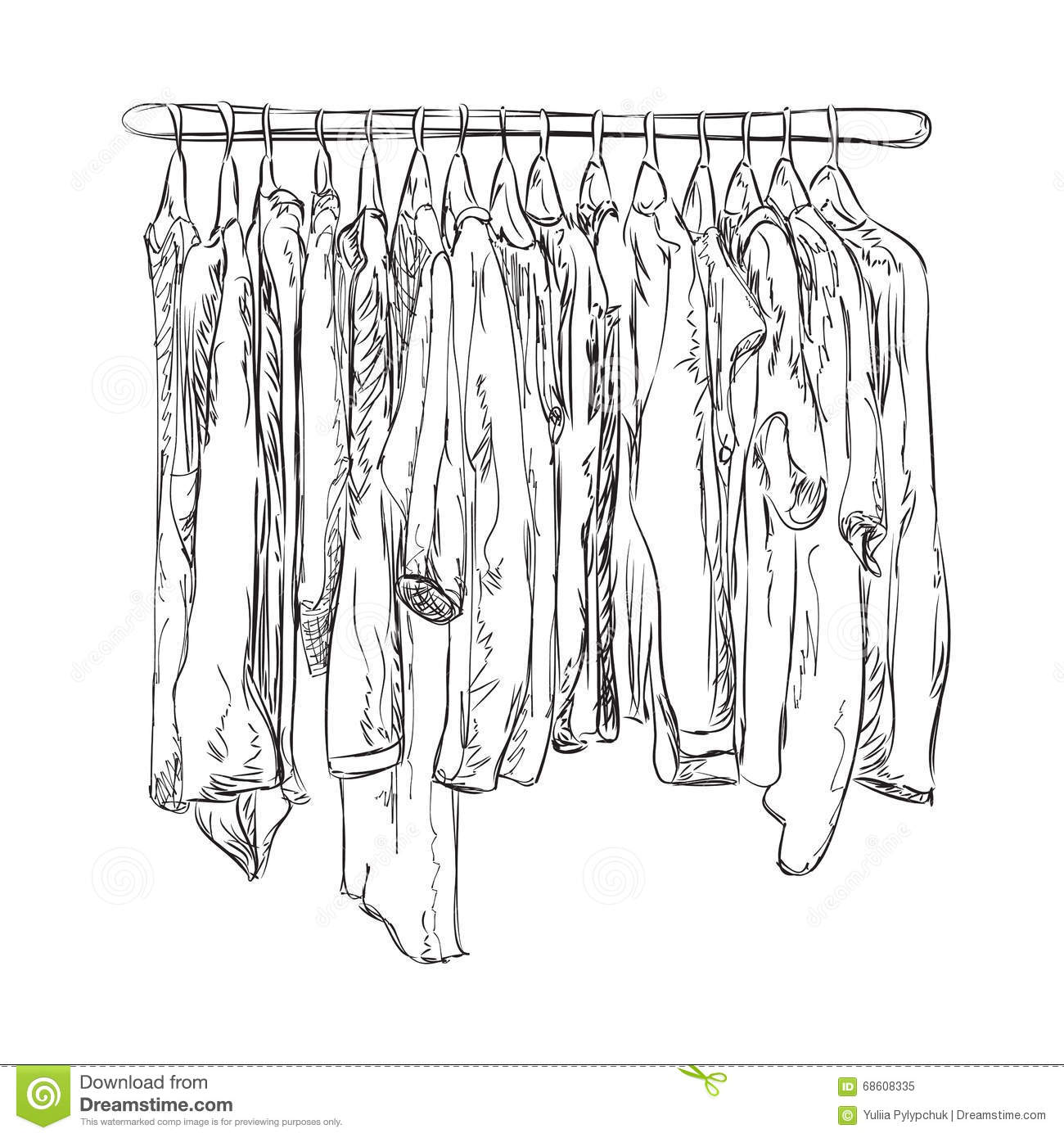 Wardrobe clipart black and white  Wardrobe Sketch Clothes Shop Stock Illustrations – 179 Wardrobe ...