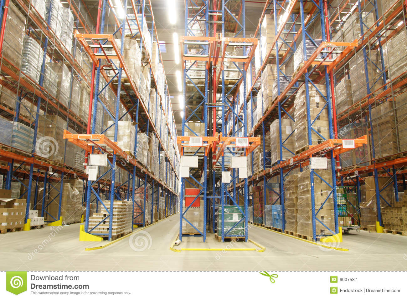 In a warehouse