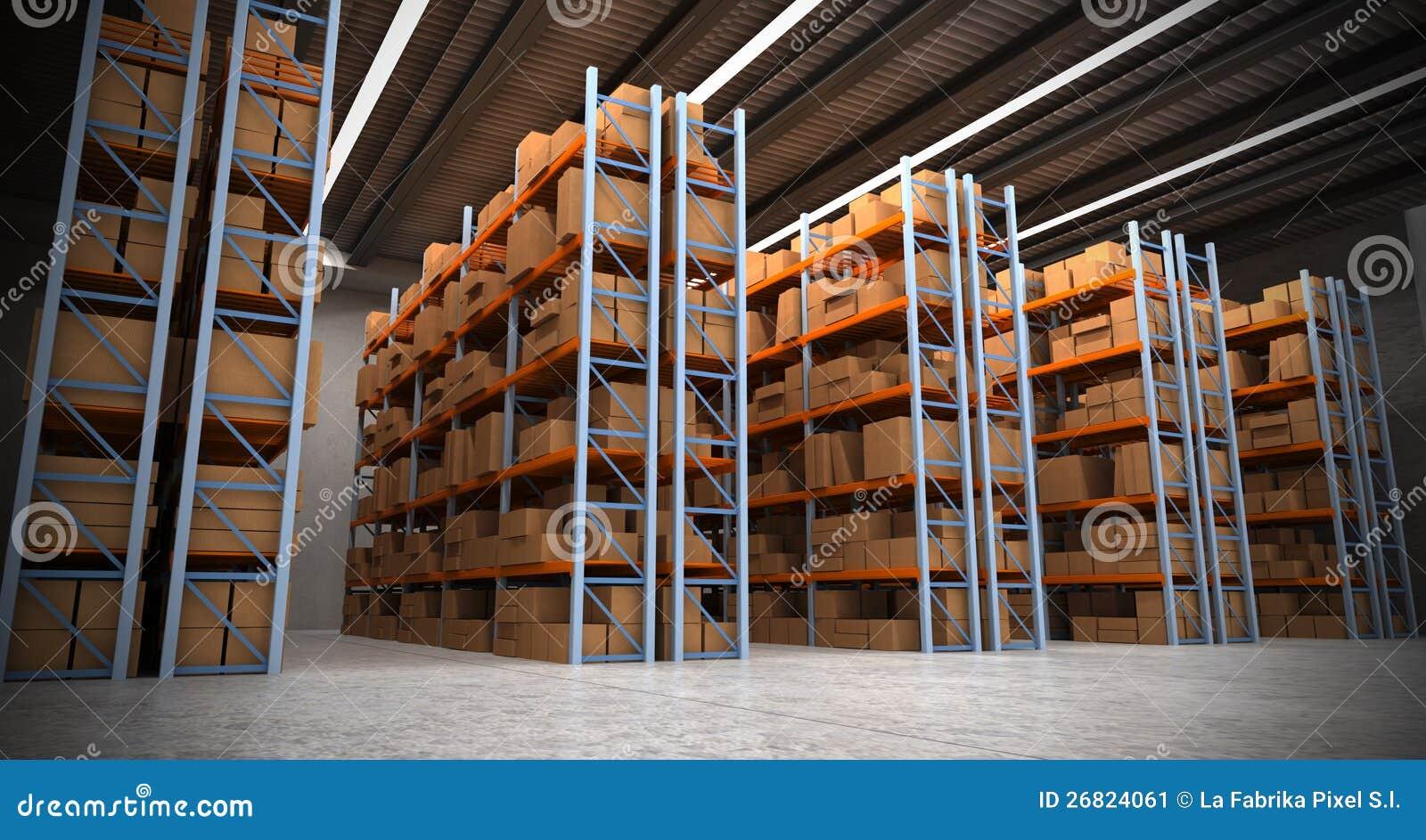 Warehouse Background A Stock Image Image 26824061